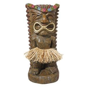 20 in. H Pau Hana Hawaiian Tiki Totem Garden Statue