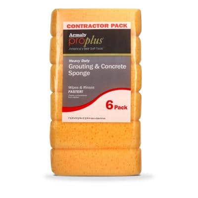 Heavy Duty Grouting and Concrete Sponge 6ct (Case of 24)