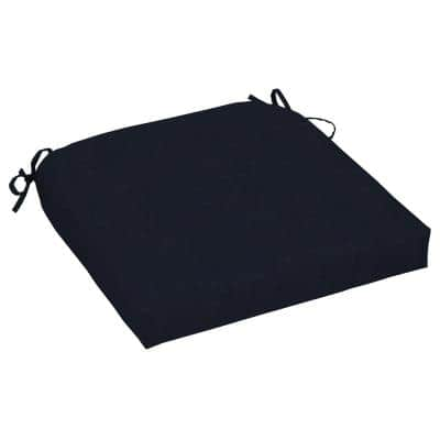 Midnight Square Outdoor Seat Cushion (2-Pack)