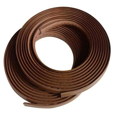 1/2 in. x 10 ft. Dark Brown PVC Inside Corner Self-adhesive Flexible Caulk and Trim Molding (2-Pack)