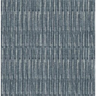 Brixton Indigo Texture Indigo Wallpaper Sample