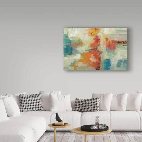 Trademark Fine Art 22 In X 32 In Coral Reef By Silvia Vassileva Floater Frame Abstract Wall Art Wap06775 C2232g The Home Depot