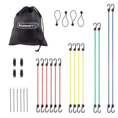28-Piece Assortment Bungee Cord with 5-Sizes