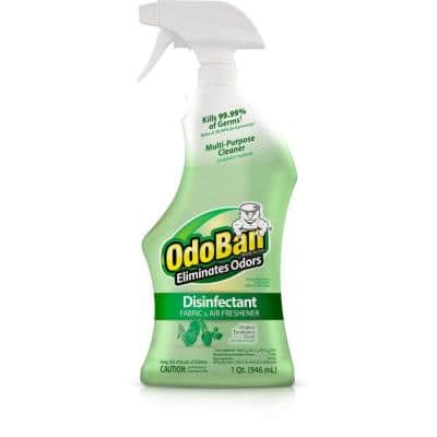 32 oz. Ready-to-Use Eucalyptus Disinfectant, Fabric and Air Freshener, Mold and Mildew Control, Multi-Purpose Spray