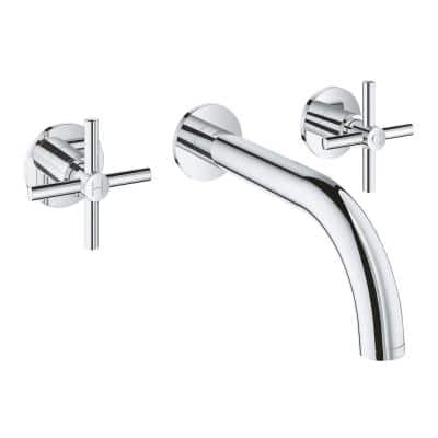 Atrio 2-Handle M-Size Wall Mount Bathroom Faucet in StarLight Chrome