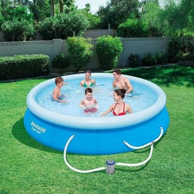 118 in. x 79 in., 26 in. D Steel Frame Hard Sided Above Ground Pool Set with Filter Pump (2-Pack)