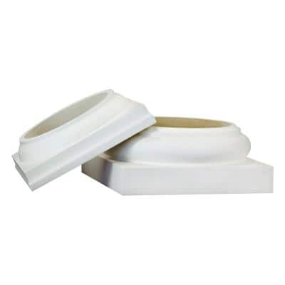 8 in. Round PermaCast Column Cap and Base Set