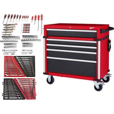 Mechanics Tool Set (191-Piece) with High Capacity Rolling Tool Chest