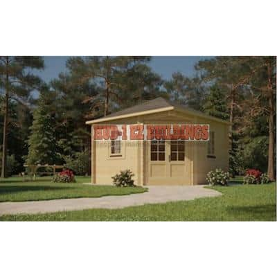 Victoria B 28 mm 118 in. x 118 in. x 111 in. Log Garden House Hobby Recreation Office Storage Building