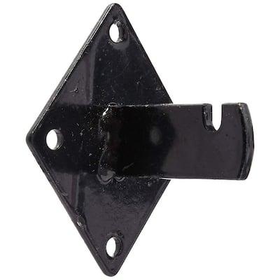 Gridwall Mount Brackets for Grid or Slatgrid Panels Box of 12-Piece Black Color