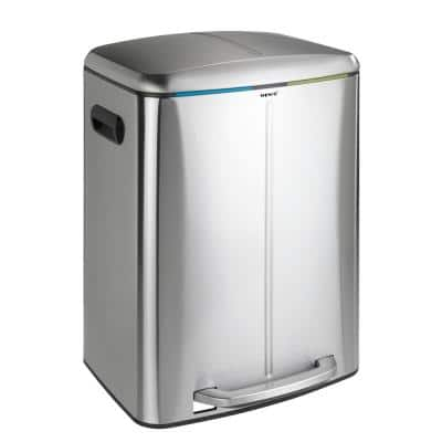 Primo 10.6 Gal. Stainless Steel Dual Bin Step-On Trash Can