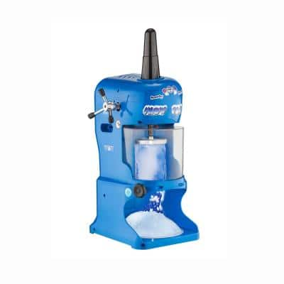 96 oz. Per Minute Blue Shaved Ice Machine - Powerful Electric Block Ice Shaver and Snow Cone Maker