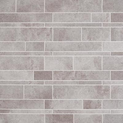 Luxe Core Railroad Gray 11.81 in. x 11.81 in. SPC Peel and Stick Tile (0.96 Sq. Ft. / Sheet)
