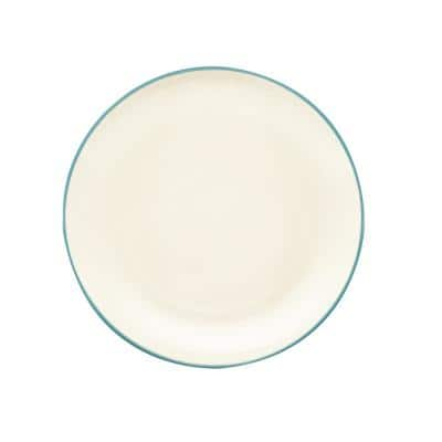 Colorwave Turquoise Stoneware Coupe Dinner Plate 10-1/2 in.