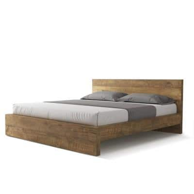 Lodi Natural Solid Wood Queen Bed