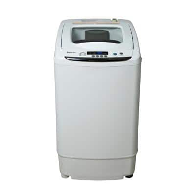 17.7 in. 0.9 cu. ft. Compact, Portable Top Load Washer Machine in White