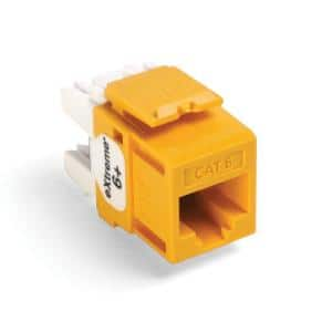 QuickPort Extreme CAT 6 T568A/B Wiring Connector, Yellow