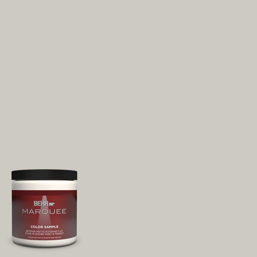 Behr Marquee 8 Oz 790c 3 Dolphin Fin One Coat Hide Matte Interior Exterior Paint Primer Sample Mq30016 The Home Depot