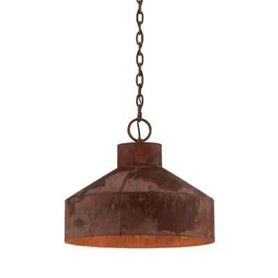 Rise & Shine 3-Light Rust Patina Pendant