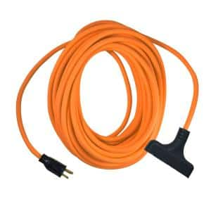 100 ft. 12/3 Orange Triple Tap Extension Cord
