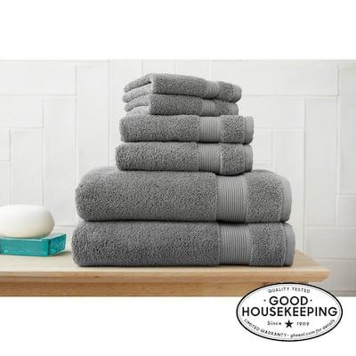 6-Piece Hygrocotton Towel Set in Stone Gray