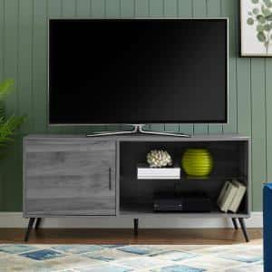 52 in. Slate Gray Composite TV Stand 56 in. with Adjustable Shelves