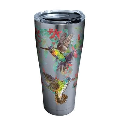 Colorful Hummingbirds 30 oz. Stainless Steel Tumbler with Lid