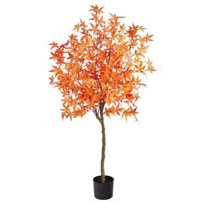 5 ft. Orange Autumn Maple Artificial Tree