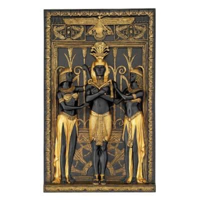 16 in. x 9.5 in. The Egyptian Pharaoh and His Maidens Wall Sculpture