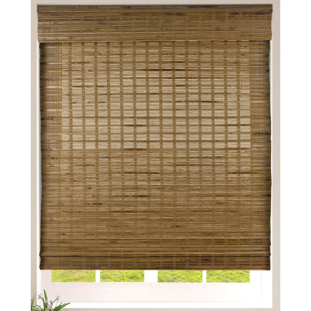 Arlo Blinds Dali Native Cordless Light Filtering Bamboo Woven Roman Shade  12.12 in.W x 12 in. L Actual Size 12CBC124120   The Home Depot