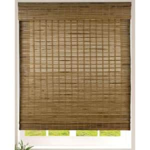 Dali Native Cordless Light Filtering Bamboo Woven Roman Shade 45 in.W x 74 in. L (Actual Size)