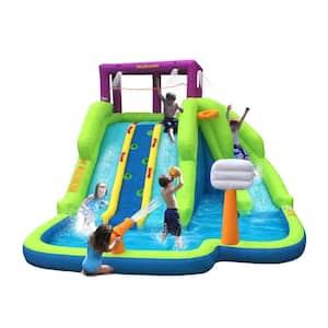 Triple Blast Kids Inflatable Splash Pool Backyard Water Slide (2-Pack)