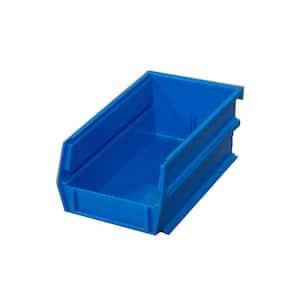 0.301-Gal. Stacking, Hanging, Interlocking Polypropylene Storage Bin in Blue (24-Pack)