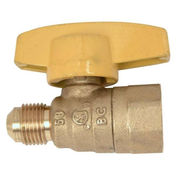 1//2 BSPP T-Type Brass Female Water Air Gas Fuel Line Shut-off Ball Valve