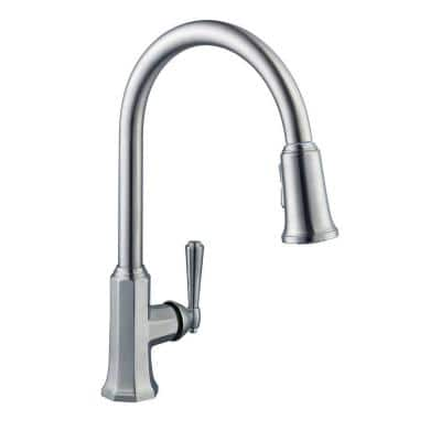 Sentio Single-Handle Pull-Down Sprayer Kitchen Faucet in Brushed Nickel