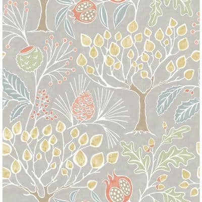 Shiloh Light Grey BoTanical Light Grey Paper Strippable Roll (Covers 56.4 sq. ft.)
