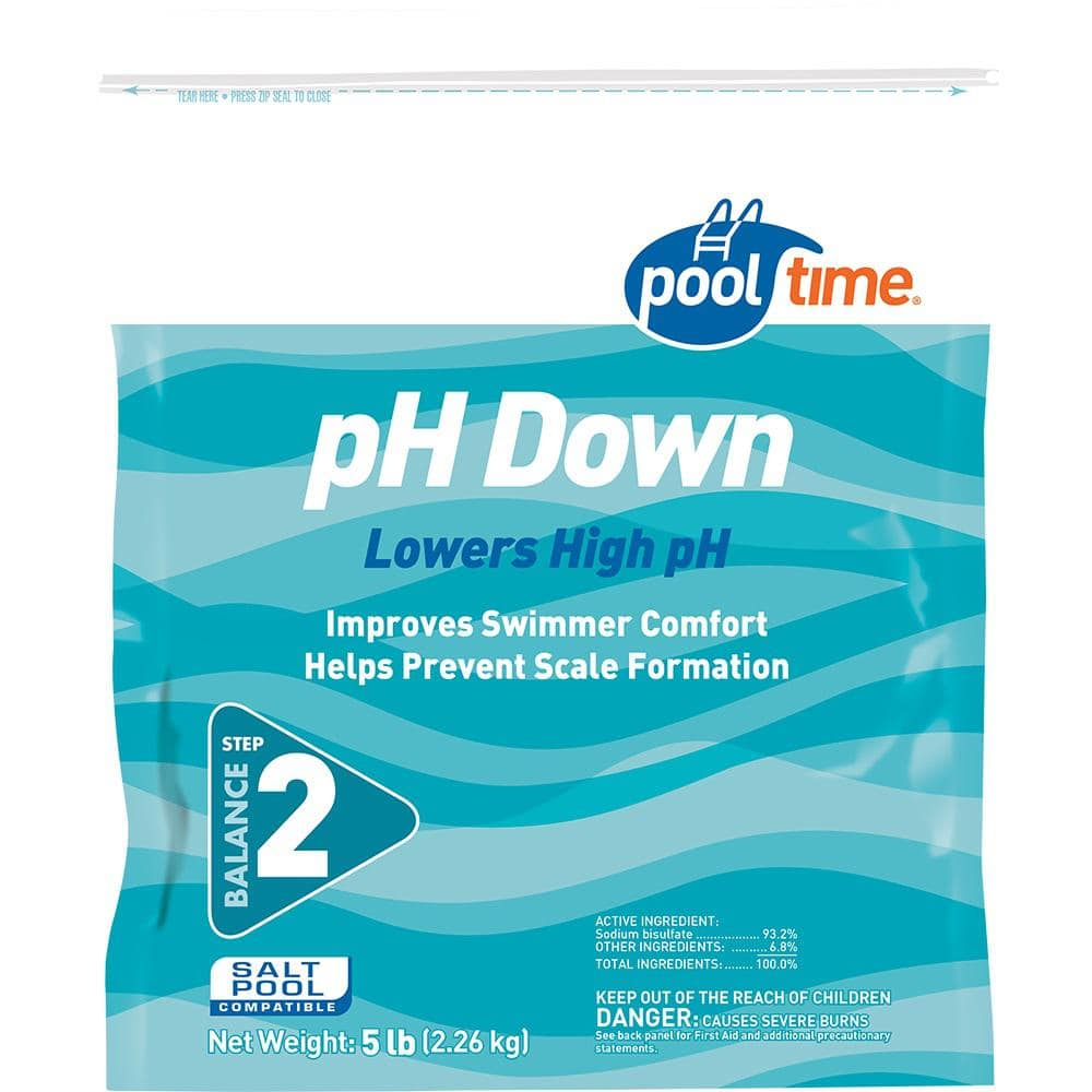 Pool Time 5 Lbs Ph Down Balancer 23605ptm The Home Depot