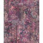 Hamadan Purple Textile Wallpaper