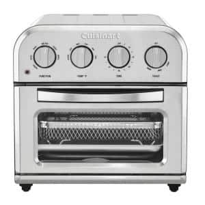 Compact 1.2 qt. Silver Airfryer Toaster Oven