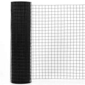 3 ft. x 50 ft. 16-Gauge Black Vinyl Coated Welded Wire Mesh 1.5 in.