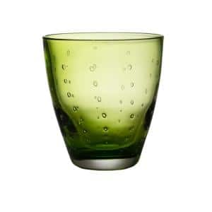 Rain Drop Green Double Old-Fashioned Glass (Set of 4)