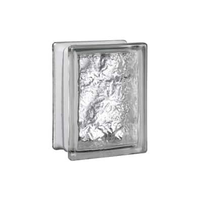 5.75 in. x 7.75 in. x 3.12 in. Ice Pattern Glass Block (10-Pack)