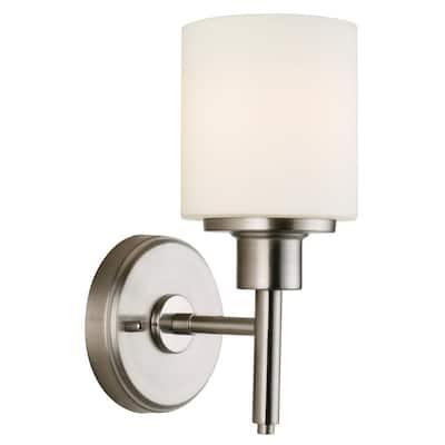 Aubrey 10-Watt 1-Light Satin Nickel Integrated LED Sconce