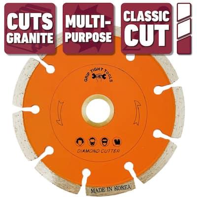 4 in. Classic Segmented Cut Diamond Blade for Cutting Granite, Marble, Concrete, Stone, Brick and Masonry (3-Pack)