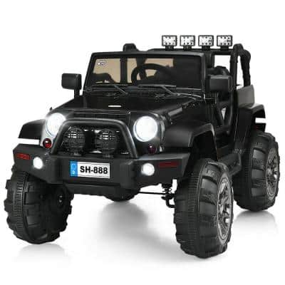 12-Volt Kids Ride On Truck Car with Remote Control MP3 Music LED Lights Black