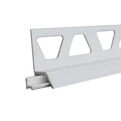 Dilex-AS Bright White 11/32 in. x 8 ft. 2-1/2 in. PVC Movement Joint Tile Edging Trim