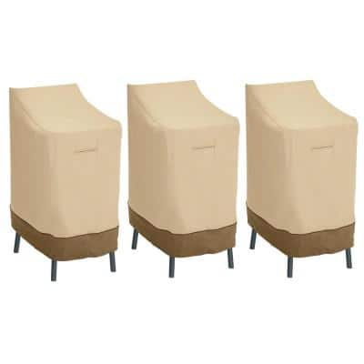 Veranda Patio Bar Chair/Stool Cover (3-Pack)