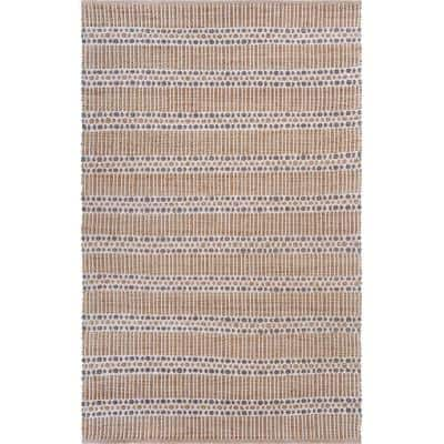 Natural Jute Beige/Gray 5 ft. x 7 ft. 9 in. Delightfully Detailed Area Rug