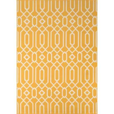 Baja Links Yellow 5 ft. 3 in. x 7 ft. 6 in. Indoor/Outdoor Area Rug