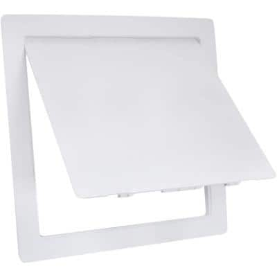 12 in. x 12 in. Plastic Access Panel for Drywall Ceiling Reinforced Plumbing Wall Access Door Removable Hinged in White